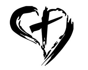 heart   cross religious car truck window laptop decal sticker cross  rel3 196  free shipping laptop clip art eps silhouette laptop clip art black and white