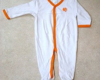 Clemson Tigers Baby Pleated Playsuit
