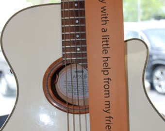 Custom Engraved Leather Guitar straps, custom guitar straps, guitar straps, personalized guitar straps, Tan color
