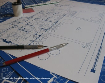 Betty and Don Draper House Floor Plan | Mad Men | Blueprint Poster Art | Gift for him | Gift for her | Architectural Drawing