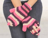 ON SALE Convertible Mittens, smartphone gloves, flip flop mittens , handmade convertible mittens,handknit wool mittens,womens wool mittens,