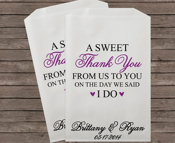 What To Put In Wedding Gift Bags: Wedding Favor Bag Candy Buffet Bags Wedding Candy Bar Bags