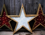 Barn Wood Star Light. Handmade Primitive startlight decoration.