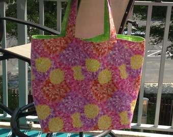Extra Large Flower Tote Bag-Reversible
