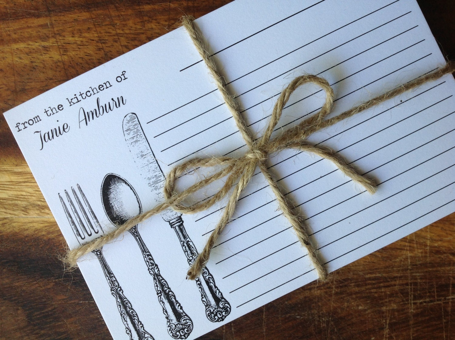 30 PERSONALIZED RECIPE CARD Bride Wedding Kitchen Shower Gift