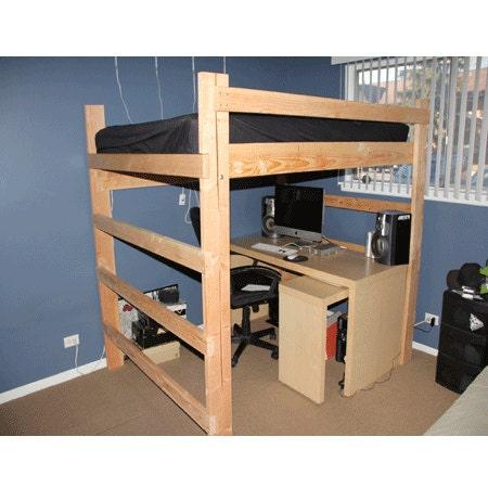 Heavy Duty Solid Wood Loft Bed 1000 Lbs Wt. Capacity Full Size