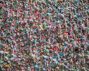 Seattle Gum Wall Pacific Northwest Graffiti Abstract Art Street Photography Photo 8x10 Print