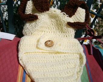 Ram Hat and Diaper set