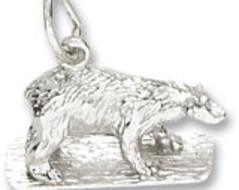Sterling Silver Polar Bear Charm by Rembrandt