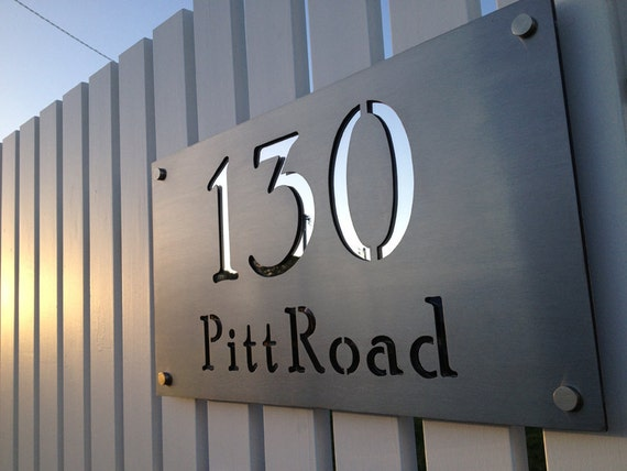 Stainless steel custom made laser cut house signs numbers and for House sign designs