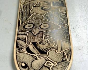 Custom Hand Engraved Skateboard