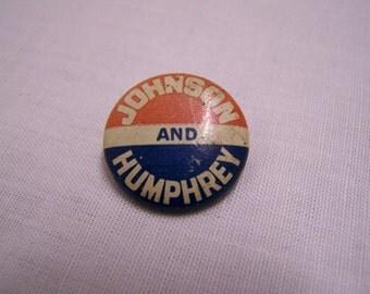 Johnson & Humphrey Campaign Button
