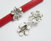 5 pcs Hexagonal Flower Licorice Findings For Licorice 10x6mm Leather Cord