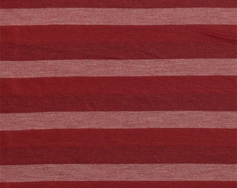 SALE! 3.00/Yard - KNIT Burgundy Tonal Stripe Cotton Jersey Knit Fabric, Super Soft Cotton Blend Jersey Knit! Sold by the Yard 5043
