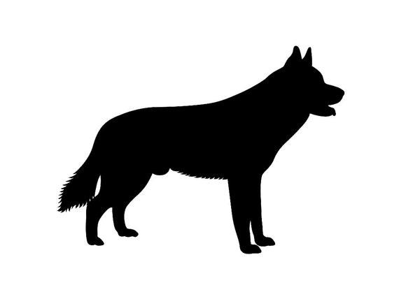 Siberian Husky V3 Dog Breed Silhouette Custom Die Cut Vinyl