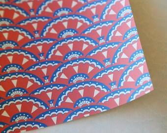 Origami Paper – 'Jane' fan pattern, 80gsm, 14cm x 14cm, 10 Pack