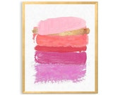 Pink PRINTABLE Art, Radiant Orchid Modern Pink Bedroom Art, Abstract Art, Wall Art, Pink Abstract Art, Modern Home Office Wall Art, Pink Art