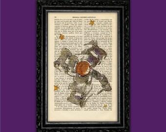 The Little Prince Artwork print Book Art Print Le Petit Prince Gift Book Poster Dorm Room wall art print Dictionary Exupéry Print (Nº18)