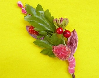 Vintage Millinery Corsage Pin
