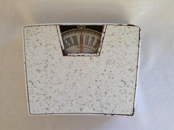 196039s vintage borg bathroom scale white for Borg bathroom scale