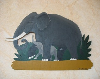 Theo the baby elephant - Decor for kids room