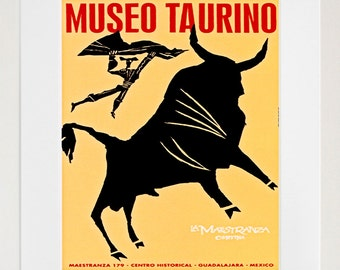 Bullfighter Mexico Art Travel Poster Tourism Print (TR19)