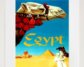 Egypt Travel Art Print Egyptian Home Decor (ZT346)