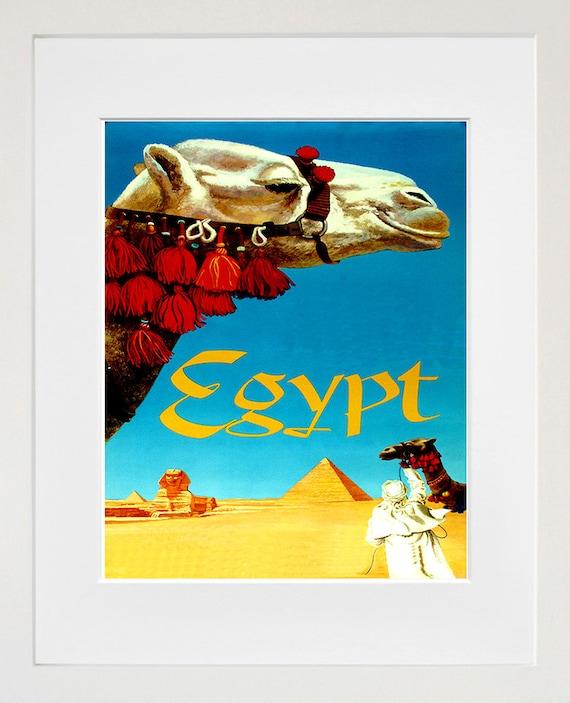 Egypt Travel Art Print Egyptian Home Decor Zt346