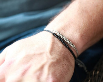 Mens Nylon Accent Bracelet - Mens Bracelet