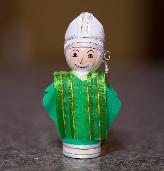 St. Patrick Peg Doll
