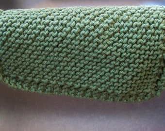 Forest Green Knitted Dishcloth