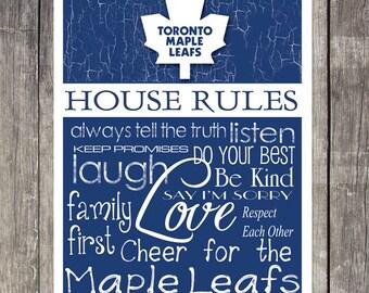 TORONTO MAPLE LEAFS House Rules Art Print