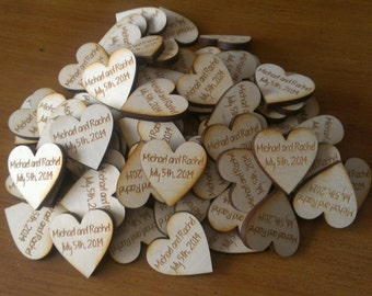 Wedding Favor, Heart Magnets - Qty 50, Personalized, Wedding Gift, Bride, Groom