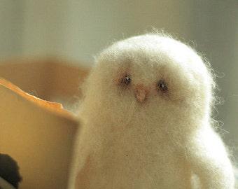 Needle felted Owl -Owl decor - Owl felt