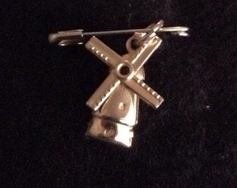 VINTAGE Metal Bracelet Charm Windmill