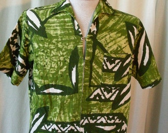 1960's Hawaiian Surfer Shirt