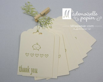 Set of 10 Thank You Baby Tag