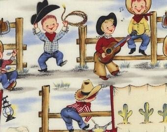 Lil' Cowpokes Fabric by Michael Miller Cowboy Western Boy