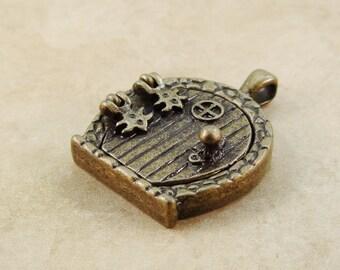 Fairy Door Pendant Antique Brass 33mm Bronze Locket