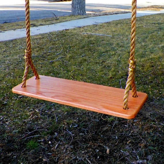 rope tree swing white oak old fashioned rope by knottypinedesigns. Black Bedroom Furniture Sets. Home Design Ideas