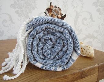 Authentic Turkish Towel-Peshtemal Towel-Fouta-Beach Towel-Tassel Towel-Handwoven Towel-Pestemal- Cotton Towel-Spa Towel-Gym Towel-Gift Towel