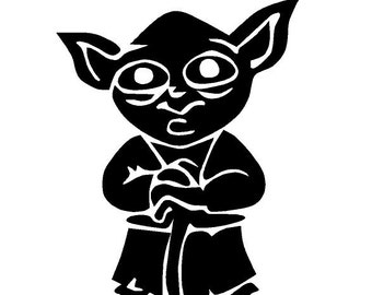 Popular Items For Yoda Decal On Etsy