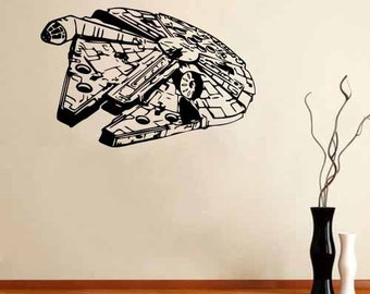 Millennium Falcon Vinyl Wall Decal Star Wars Sticker Bedroom!