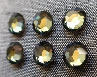 Swarovski channel crystal stones 29ss tabac foiled 6mm