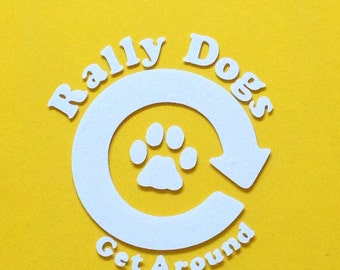 Rally obedience car decal