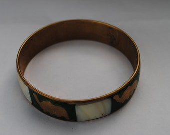 African brass bracelet