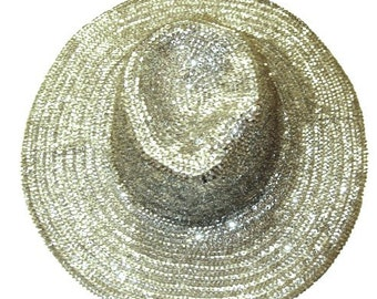 Sequin Cowboy Cowgirl Hat SILVER Rodeo Western