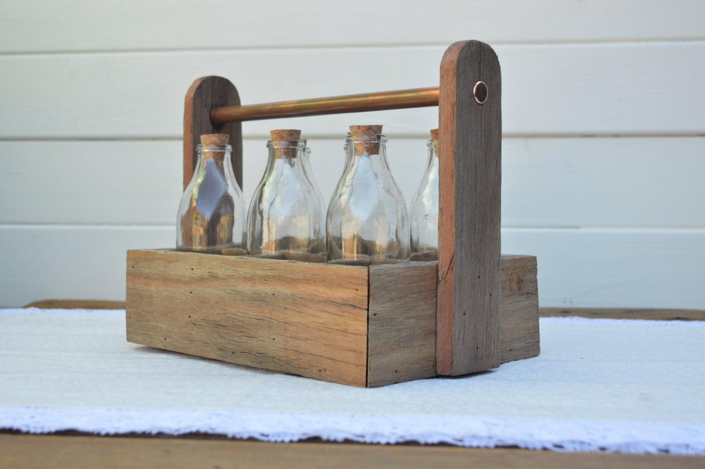 milk bottle holder carrier vintage glass by whothedickens. Black Bedroom Furniture Sets. Home Design Ideas