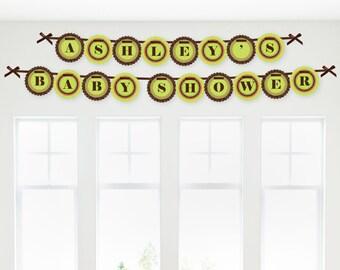 Safari Jungle Garland Banner - Custom Baby Shower and Birthday Party Decorations