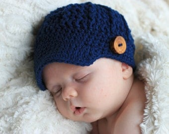 Coming Home Outfit, Newborn Boy Hat, Infant Hat, Baby Boy Hat, Baby Hat, Newsboy Hat, Shower Gift, Newborn Boy Hat, Infant Crochet Hat